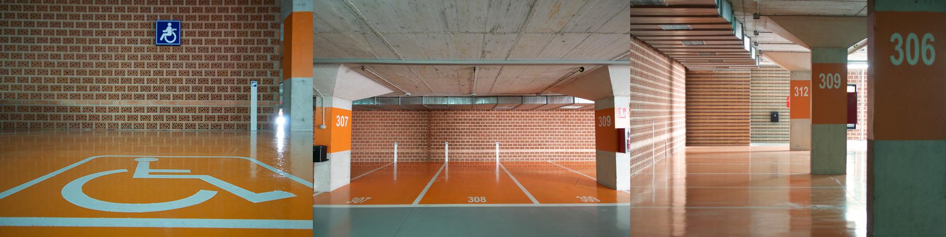 pavimento parking en hospital la vega - tudepa