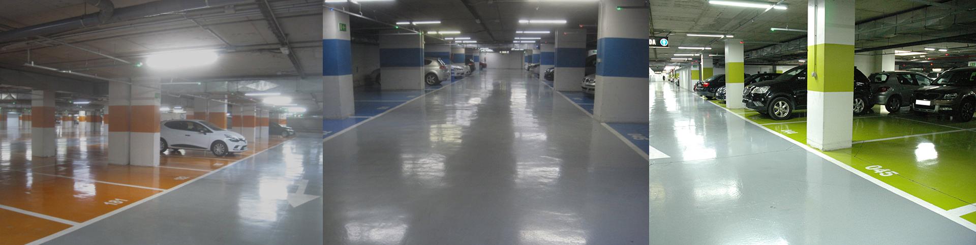pavimento parking en hospital reina sofia - tudepa